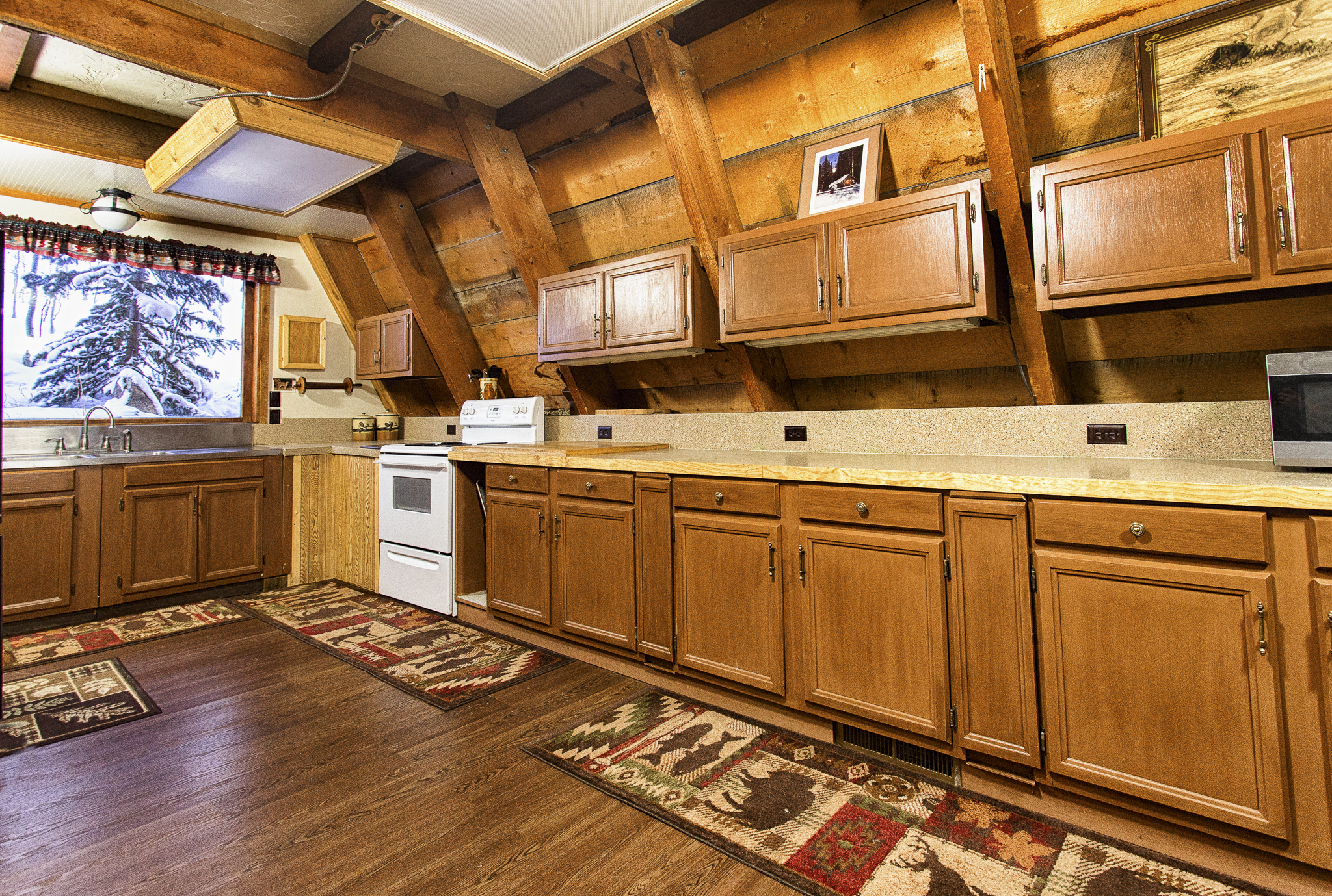 A Frame Kitchen Cabin 3 A Frame Mountain Pinnacle Properties