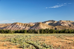 These multi-colored hills are just east of Dubois, about 30 minutes from the properties.